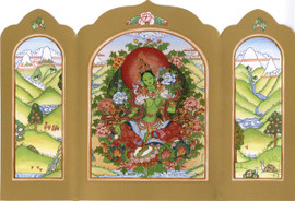 Green Tara - Traveling Altar Card