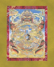 The Wheel of Life (The Bhavachakra) - Large Deity Card