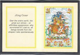 King Gesar - Folding Thangka