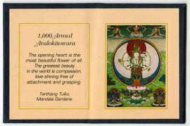 Thousand Armed Avalokitesvara (Chenrezig) - Folding Thangka