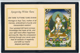 Longevity White Tara - Folding Thangka