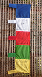Five Color Vertical Prayer Flag (Various Deities)