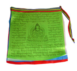 Various Deity Prayer Flags (Large, Strand of 20 Flags)