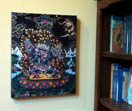 """Vajrakilaya (Dorje Phurba) Canvas Print 20.5"""""""