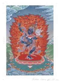 Troma Nagmo Deity Card Print, by Kumar Lama