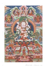 Vajrasattva Deity Card Print, by Kumar Lama