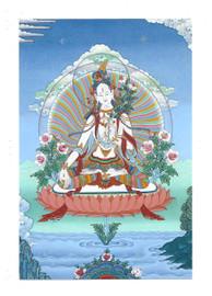 White Tara Deity Card Print, by Kumar Lama