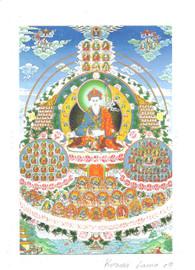 Dudjom Tersar Refuge Tree Deity Card Print, by Kumar Lama