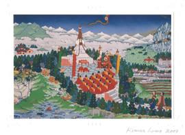 Shower of Blessings: Tibetan Life Card Print, by Lama Kumar