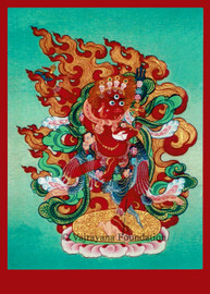 Seng Dongma, Lion Faced Dakini (Red Face) 5x7