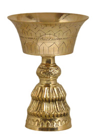 Etched Brass Butterlamp (front view)