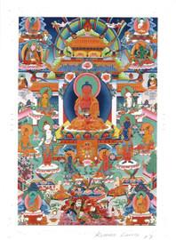Amitabha Buddha Deity Card Print, by Kumar Lama