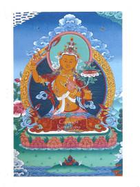 Manjushri Deity Card Print, by Kumar Lama