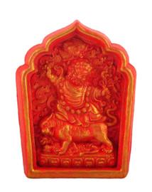 Dorje Drolod Tsa Tsa (Fire Red Golden Painted)