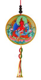 Red Tara Hanging Medallion