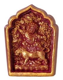 Dorje Drolod Tsa Tsa (Burgundy and Golden Painted)