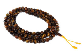 Tiger's Eye Mala with Red or Yellow Cord