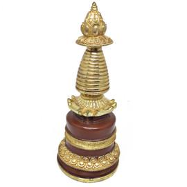 "Kadampa Stupa (Gold / Burgundy) 7.25"""