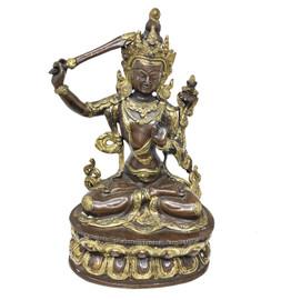 Manjushri Statue (Copper)