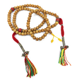 Sandalwood Mala with Bell and Dorje Counters 8mm