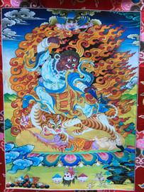 """Dorje Drolod Print Thangka - 52"""" x 33"""""""