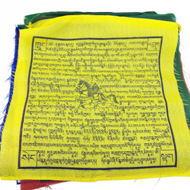 5 Color Prayer Flag, Multi Deity (Strand of 25 flags)