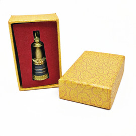 Small Stupa Pendant with Gift Box and Mala Cord