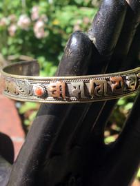 Multi-Metal Mantra Bracelet Sanskrit Red