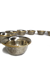 Offering Bowls, White Metal 3""