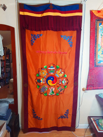 Door Curtain 8 Auspicious Symbols