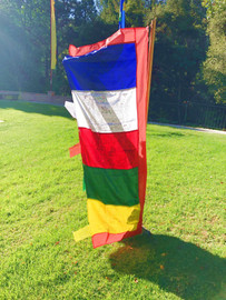 Prayer Flag, Large Vertical 5 Color