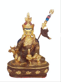 "-Pre-owned- Guru Rinpoche Statue, 4.5"" FILLED"