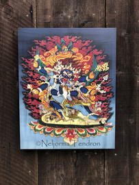 Vajrakilaya Canvas  (Gray) 16x20 by Neljorma Tendron