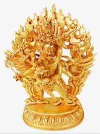Hayagriva Statue Gold-Plated