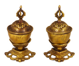 Small Brass Men and Rak Kapala Set
