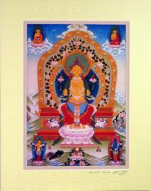 Print of Maitreya Thangka by Kumar Lama