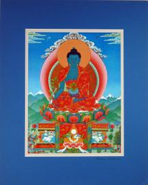 Glicee Print of Medicine Buddha Thangka by Kumar Lama