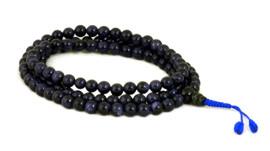 Dark blue goldstone mala with 108, size 8mm beads.