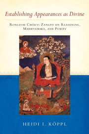 Establishing Appearances as Divine: Rongzom Chokyi Zangpo on Reasoning, Madhyamaka, and Purity by Heidi I. Koppl