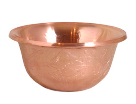 Set of Seven Etched Copper Offering Bowls 2.5""