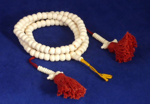 8mm Bone Mala with Counters