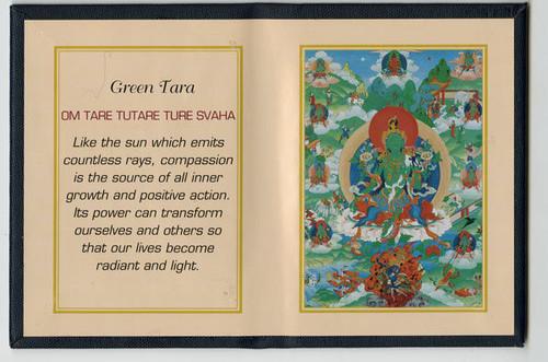Green Tara - Folding Thangka