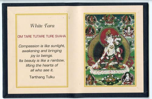 White Tara - Folding Thangka