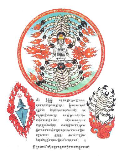 Guru Rinpoche Scorpion Door Protection Sticker