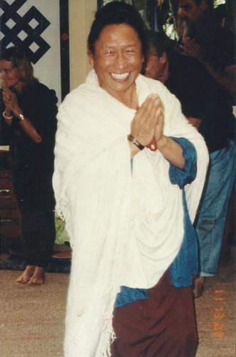 Lama Tharchin Rinpoche with White Zen