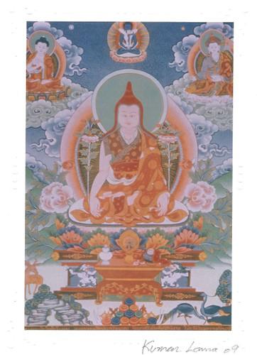 Longchenpa Deity Card Print, by Kumar Lama