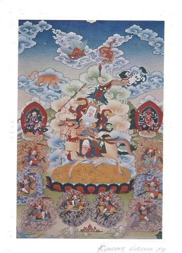 King Gesar of Ling Deity Card Print, by Kumar Lama