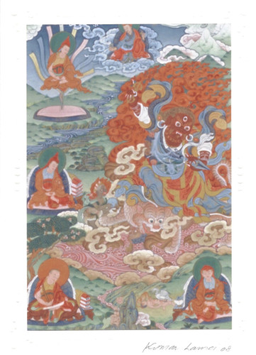 Dorje Drolod Deity Card Print, by Kumar Lama