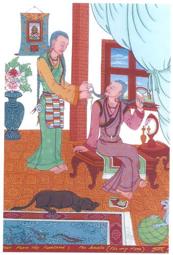 For My Mother: Tibetan Life Card Print, by Kumar Lama