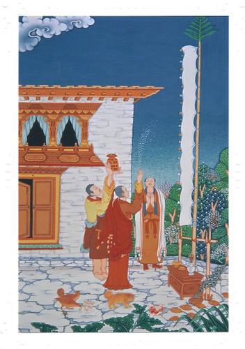 Happy Losar: Tibetan Life Card Print, by Kumar Lama
